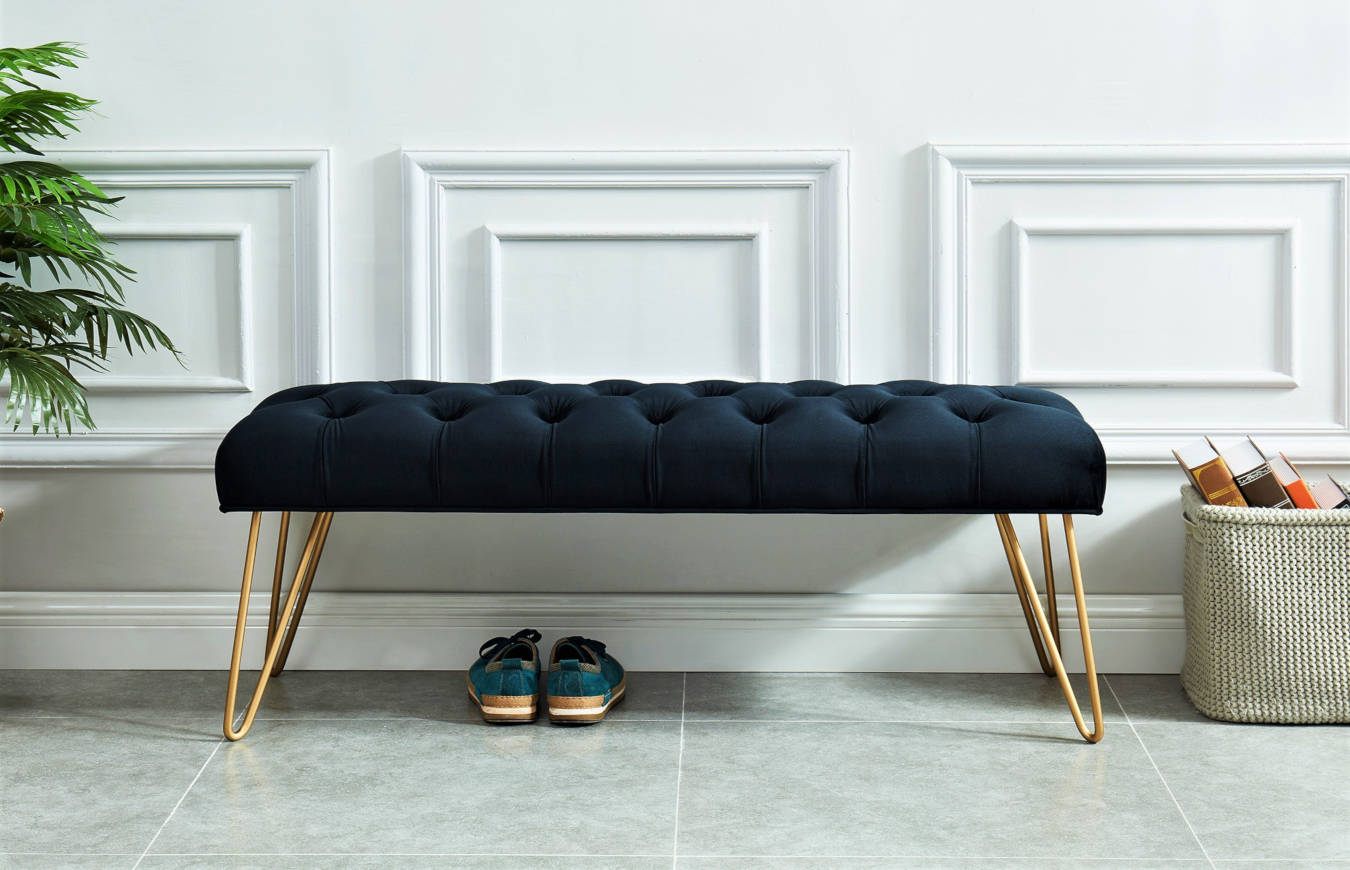 Luxury bench furniture in a living room decor.