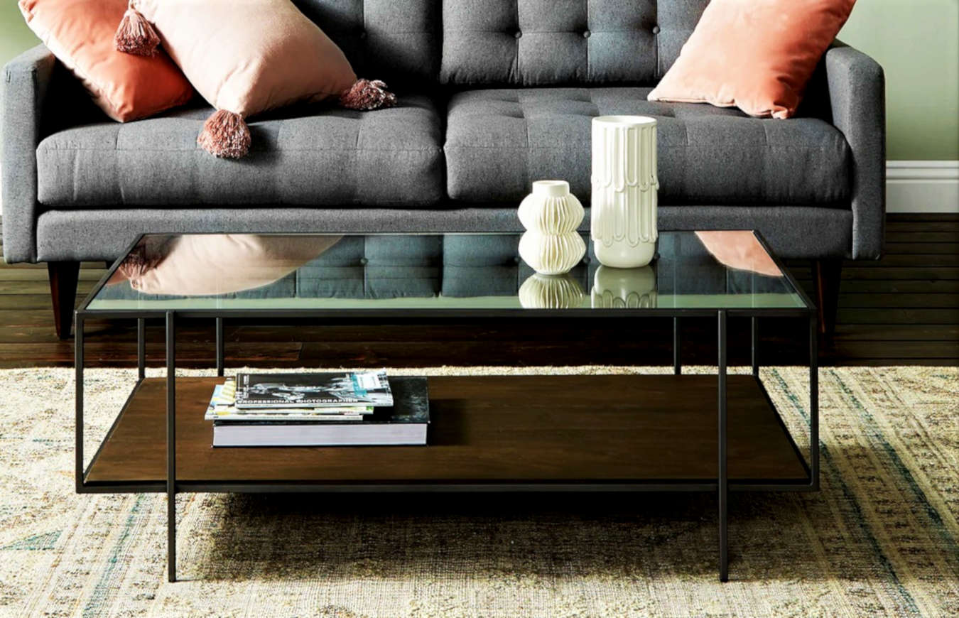 Luxury coffee table in a living room decor.