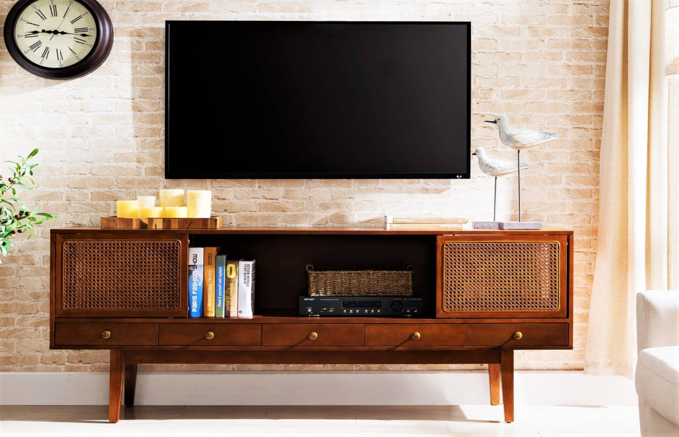 Luxury Media Unit in a living room decor.