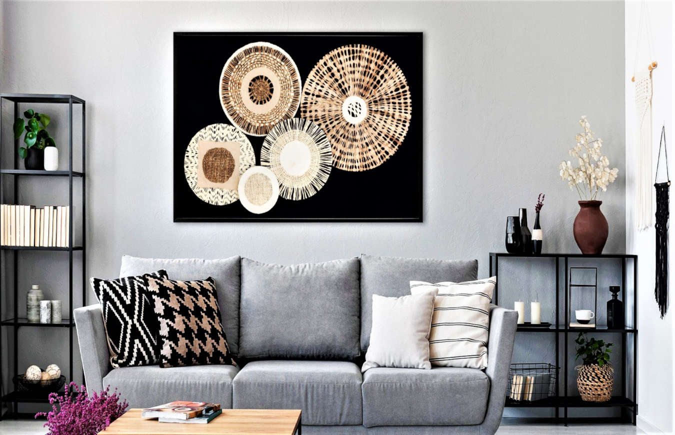 Luxury Wall Art in a living room decor.