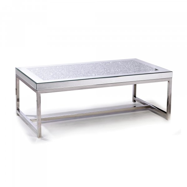 GEM Mirrored Crushed Diamond Coffee Table