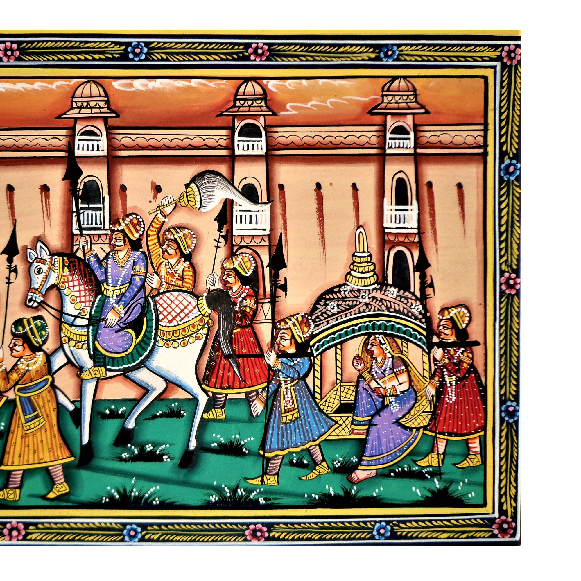 The Royal Rajputana Rajasthani Miniature Painting
