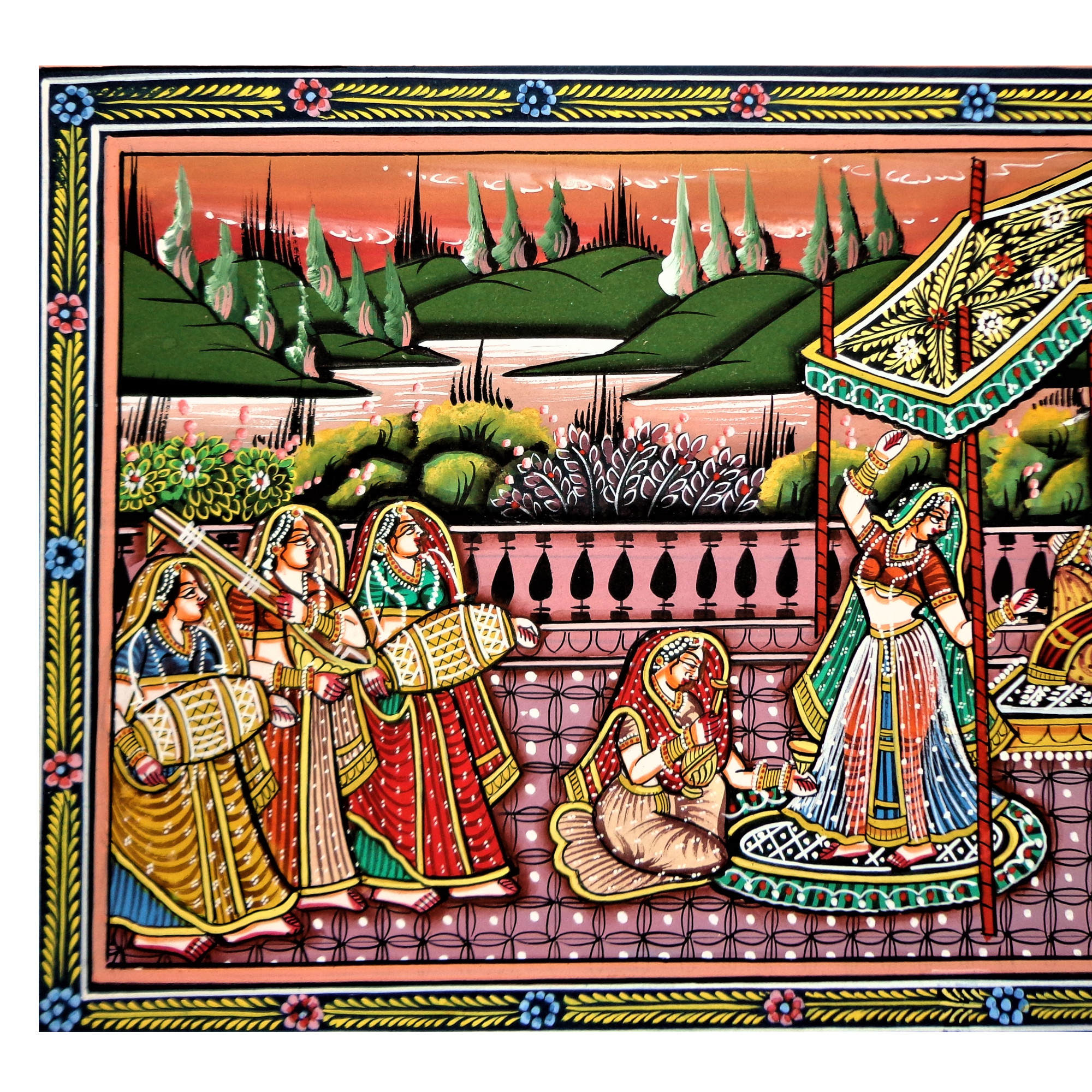A  Regal Gala Rajasthani Miniature Painting