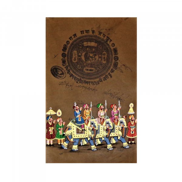 ROYAL RAJPUTANA Stamp Paper Painting