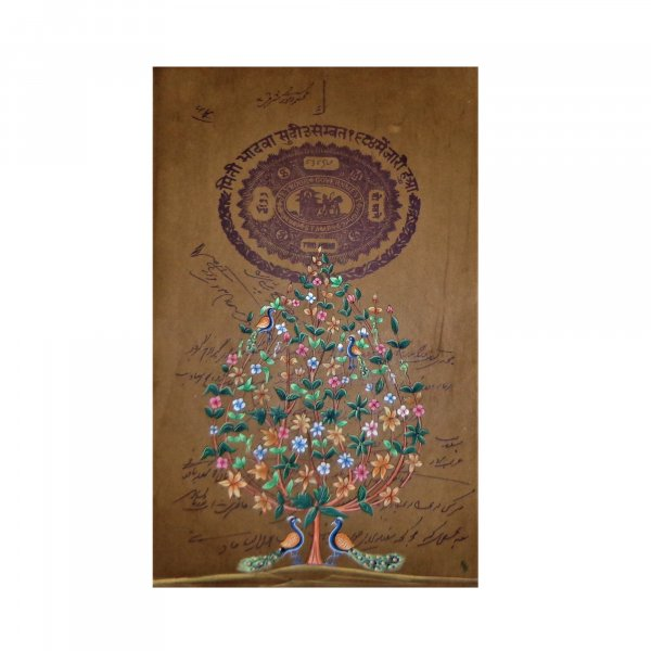 TREE OF LIFE Stamp Paper Painting