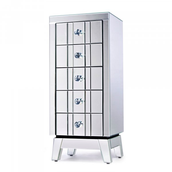 DEVINA Mirrored Chest of Drawers