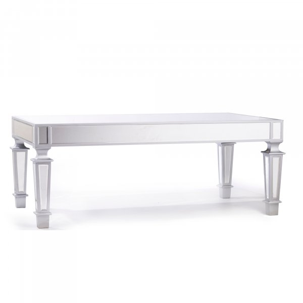 DEVINA Metallic Mirrored Coffee Table