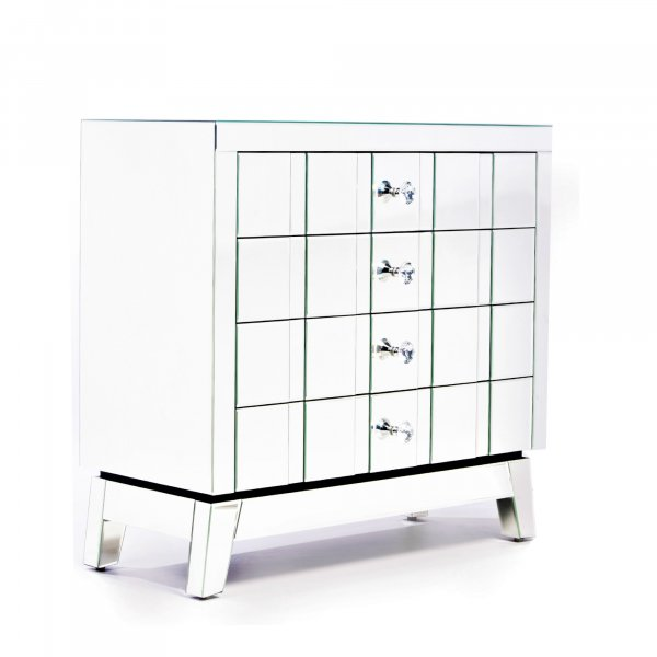 DEVINA Mirrored Sideboard Cabinet Highboy