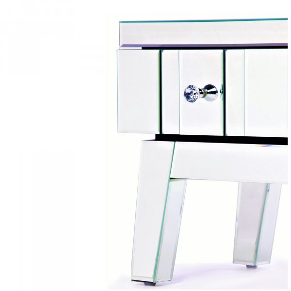 DEVINA Mirrored Bedside End Table