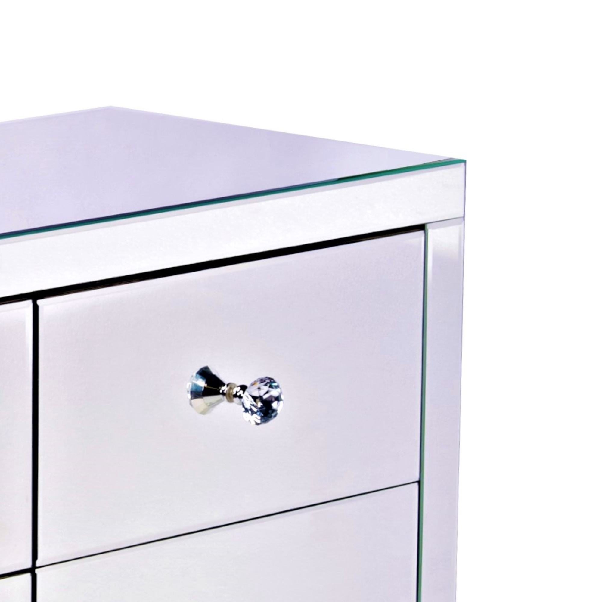ELAN Mirrored Sideboard Cabinet Highboy