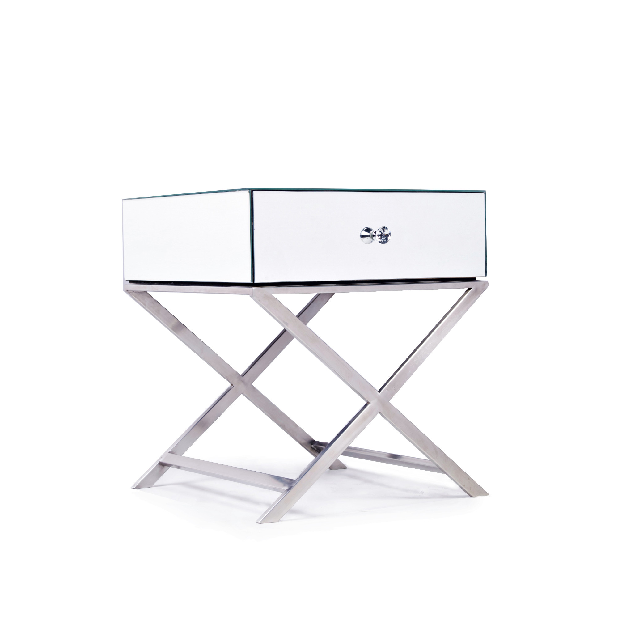 ELAN Mirrored Bedside End Table