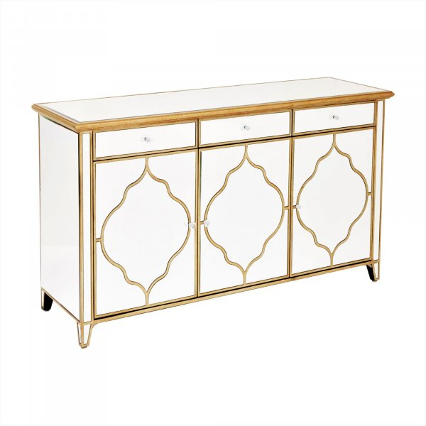 LUNA Mirrored Sideboard Cabinet