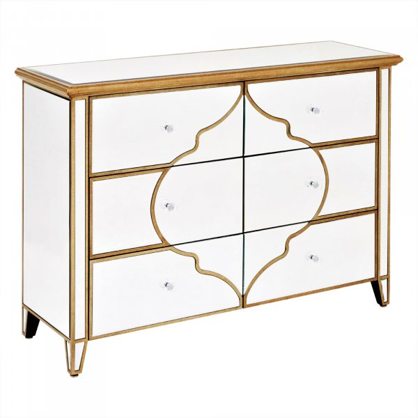LUNA Mirrored Sideboard Highboy