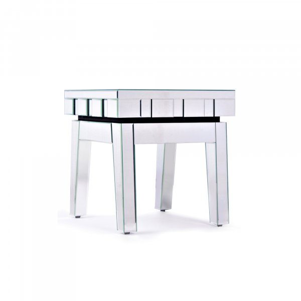 DEVINA Mirrored End Table