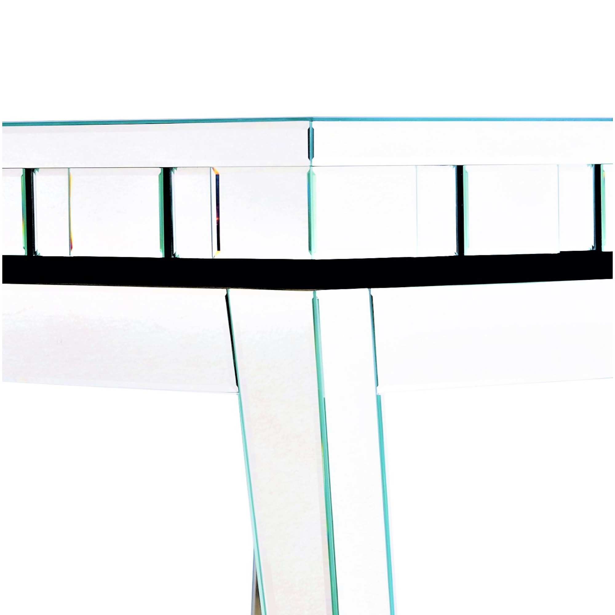 STERLING Mirrored Bedside End Table