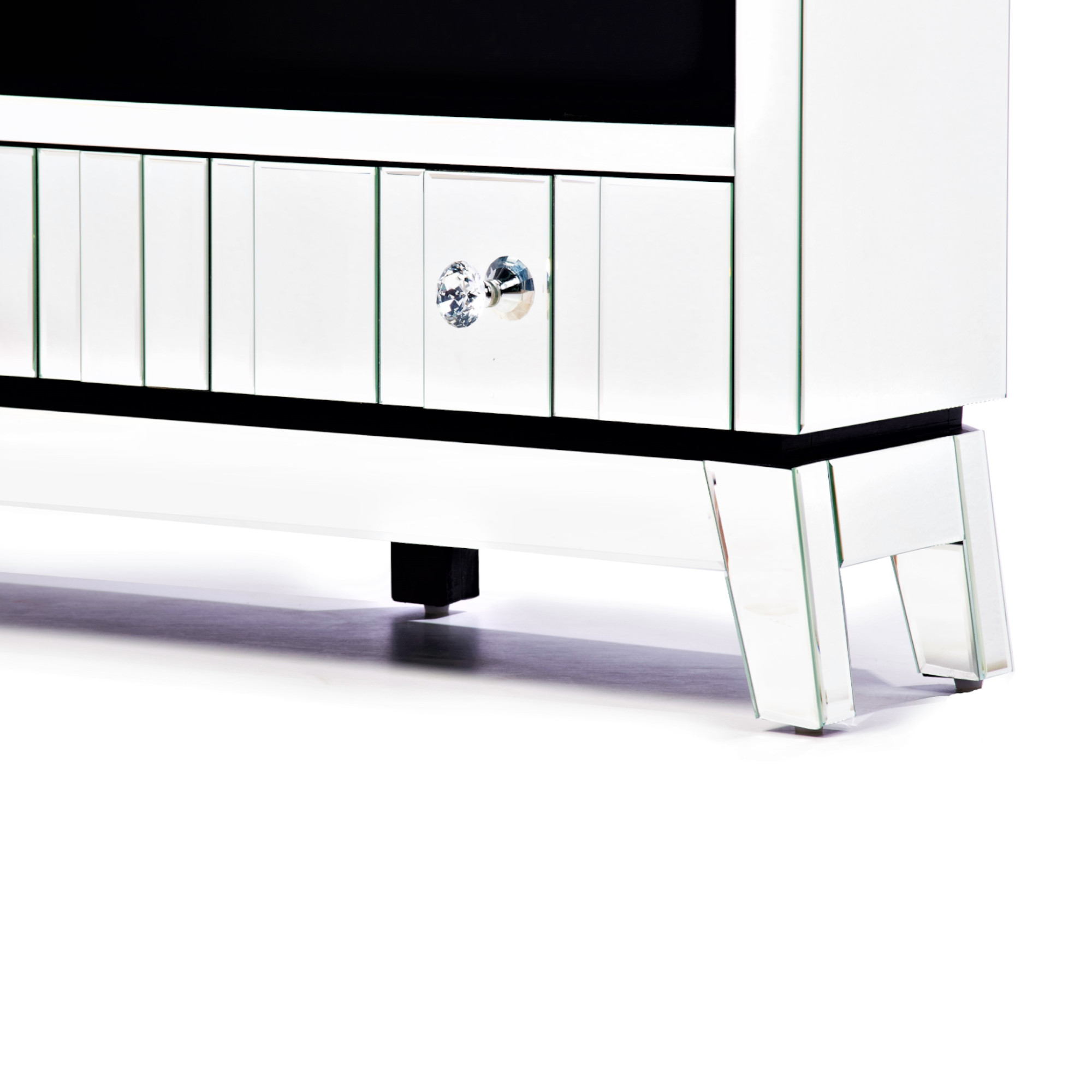 Mirrored TV  Console Unit