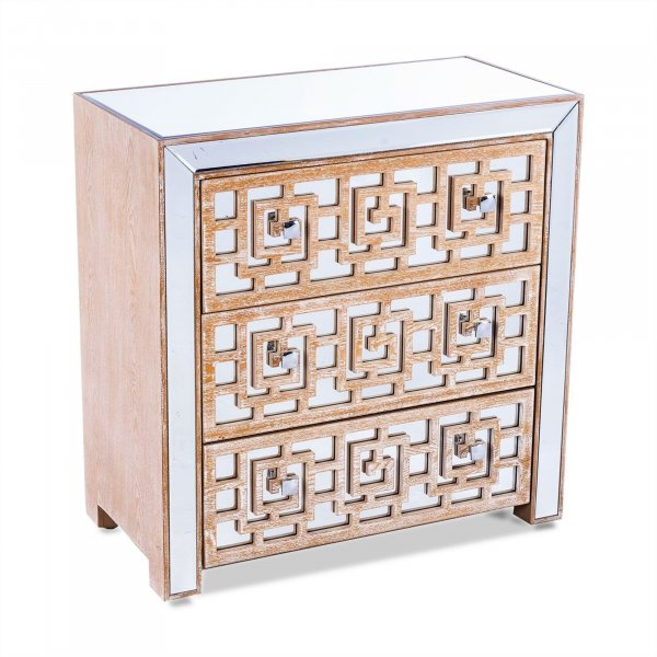 WARREN Mirrored Chest of Drawers