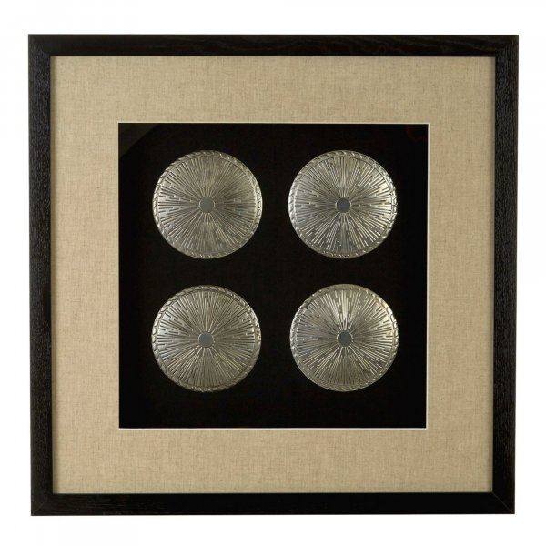 Silver Disc Set  Wall Art - BBWLRT09