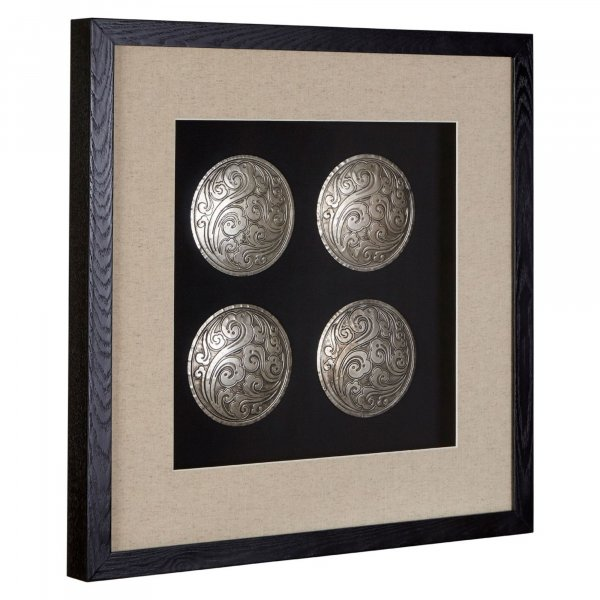 Silver Disc Set  Wall Art - BBWLRT10