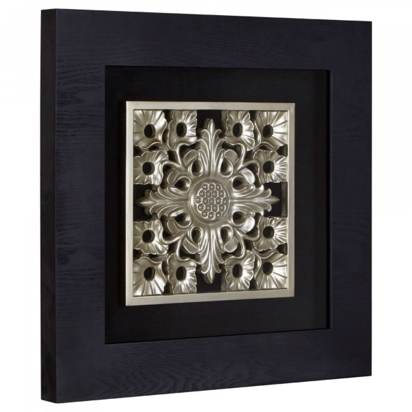 Silver Ornate Wall Art - BBWLRT11