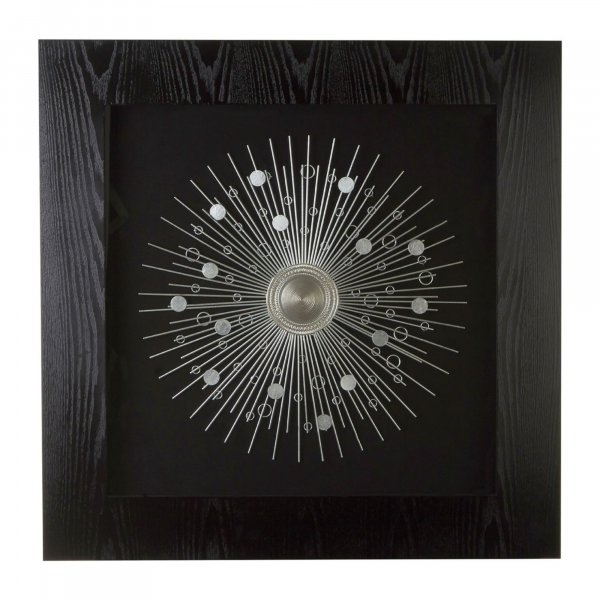 Silver Abstract Wall Art - BBWLRT13