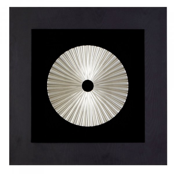 Silver Disc Wall Art - BBWLRT16