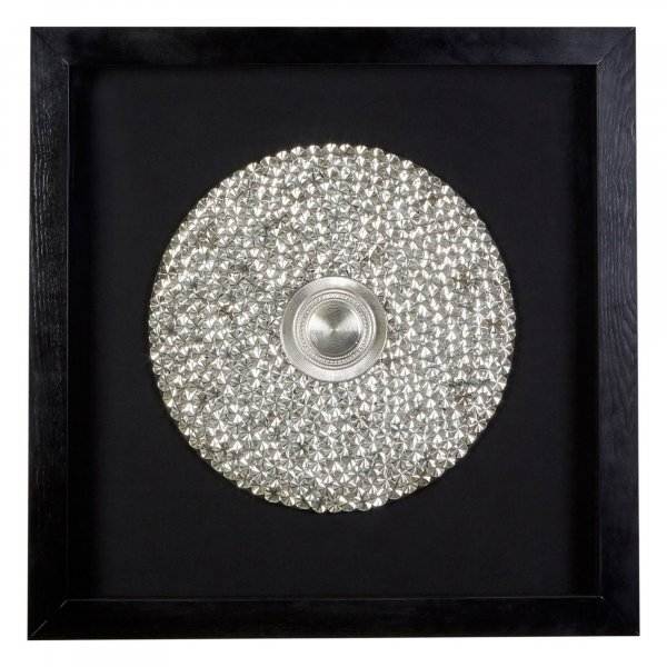 Silver Disc Wall Art - BBWLRT17