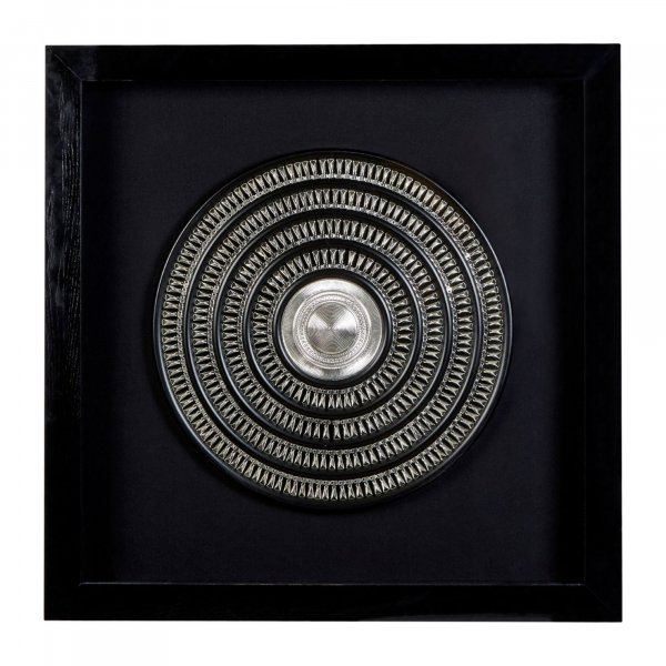 Silver Disc Wall Art - BBWLRT18