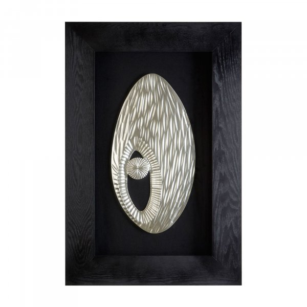 Silver Abstract Wall Art - BBWLRT20