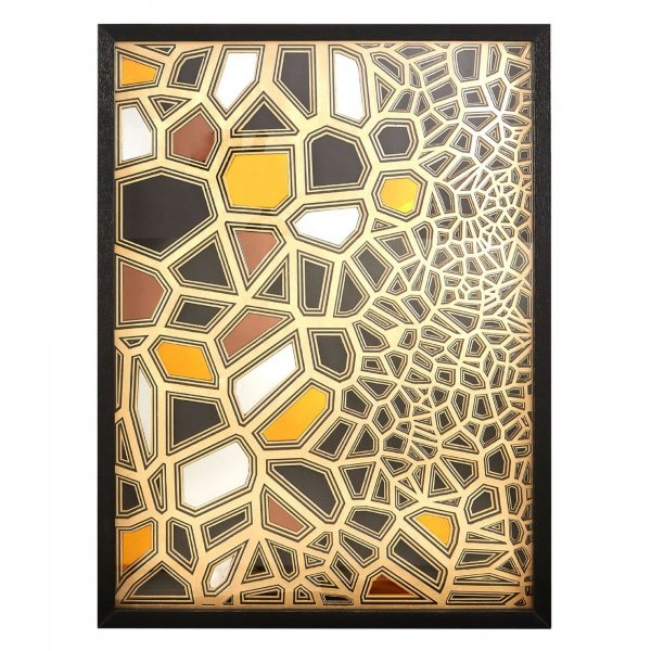 Gold Mosaic Wall Art - BBWLRT26