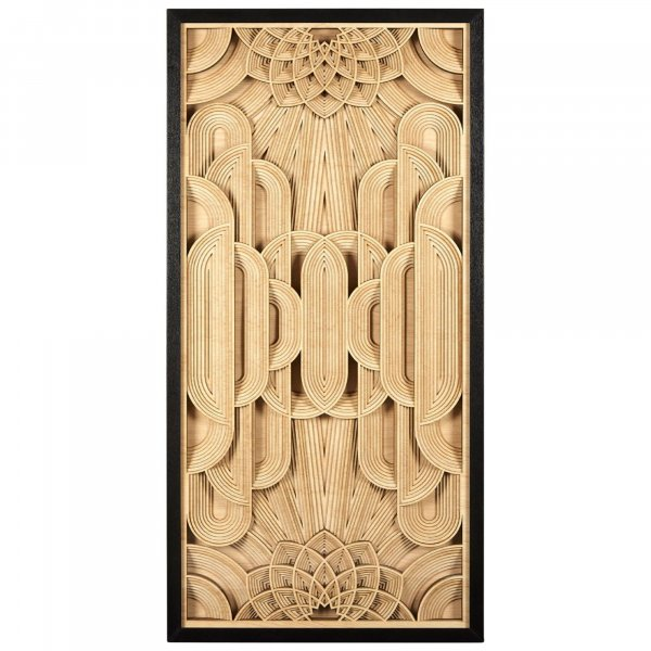 Wood Carving Deco Wall Art - BBWLRT27