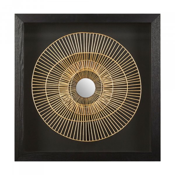 Gold Nebula Wall Art - BBWLRT29