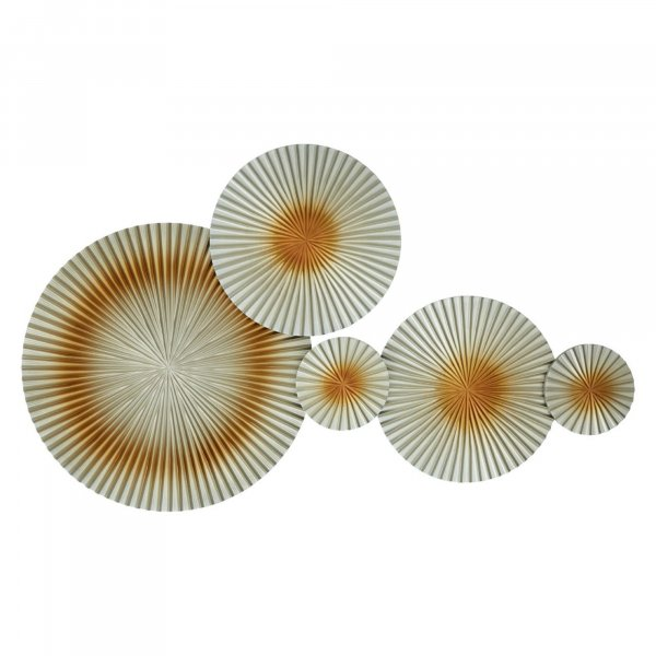 Gold Floating Discs Wall Art - BBWLRT32