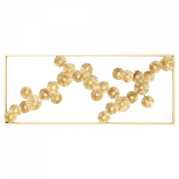Gold Floating Petals Wall Art - BBWLRT39