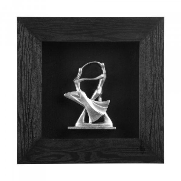 Silver Dancing Couple Wall Art - BBWLRT44