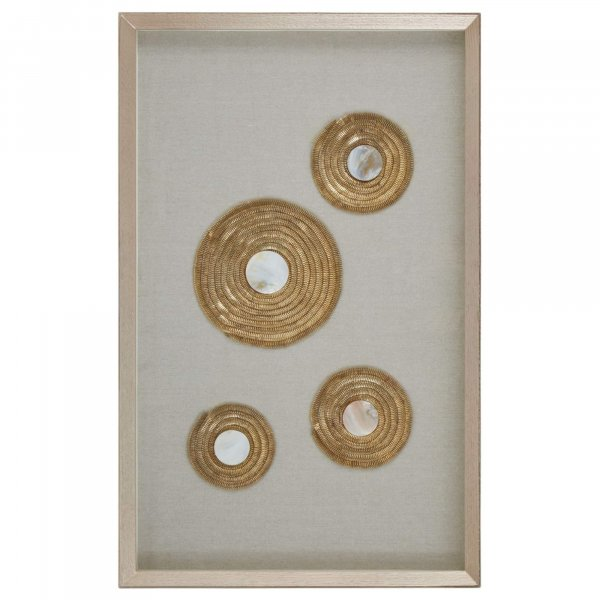 Gold Discs Circle Wall Art - BBWLRT45