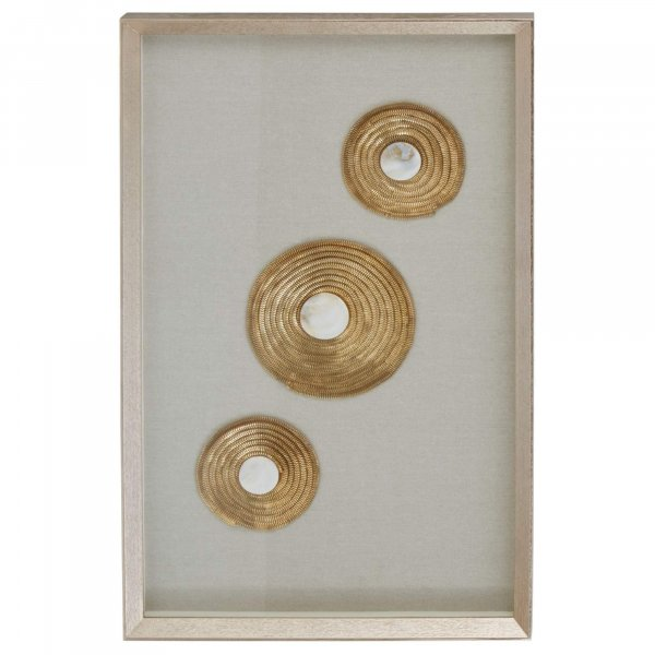 Gold Discs Circle Wall Art - BBWLRT49
