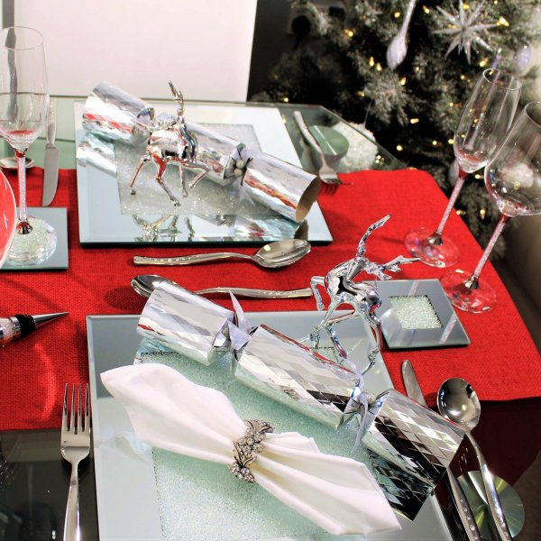 DONNA Diamond Crush Silver Serving Set